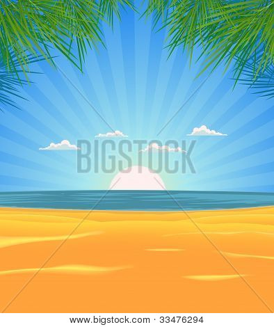 Summer Beach Landscape