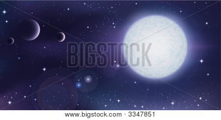Outer Space Landscape