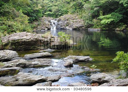 Waterfall in Aha, Japan
