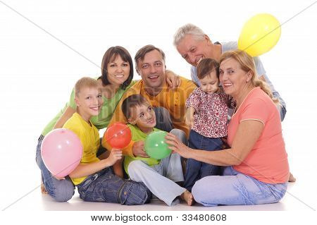 Family With Baloons