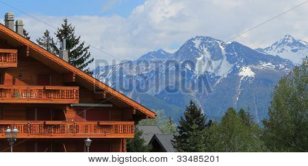 Chalet In Crans Montana By Summer, Switzerland