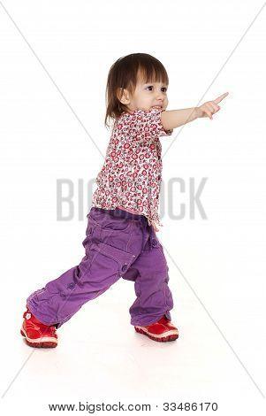 Pretty Little Caucasian Girl Posing