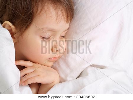 A Small Charming Baby Sleeps