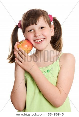 Girl Holding Apple