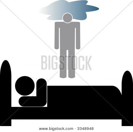 Stick Man In Bed Depressed.