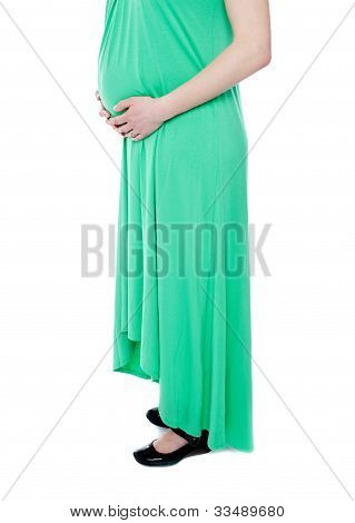 Pregnant Lady Expecting Baby