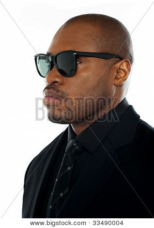 Closeup Of African Businessman