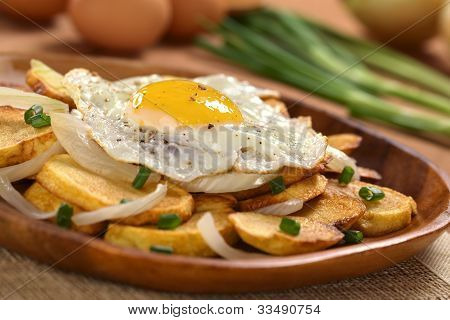 Fried Egg on Fried Potatoes