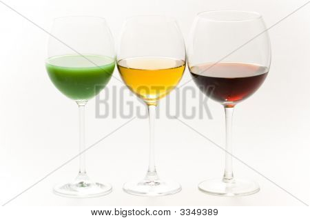 Three Tall Glasses