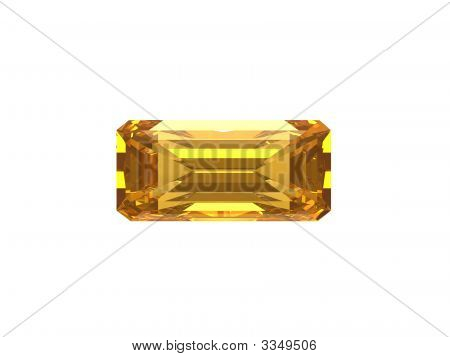 Citrine Rectangle.