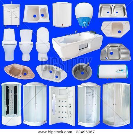 Set Of Bathroom Equipment