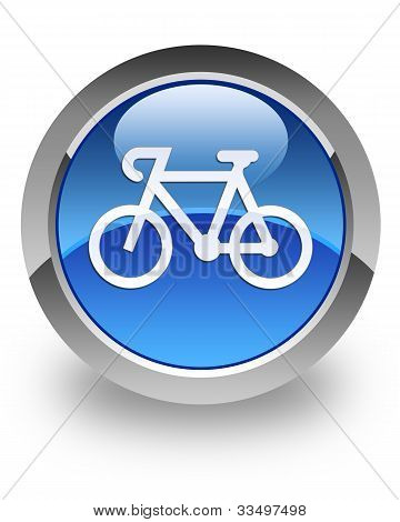 Bicycle glossy icon
