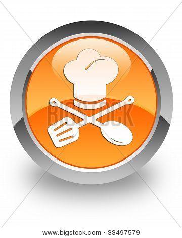 Chef glossy icon