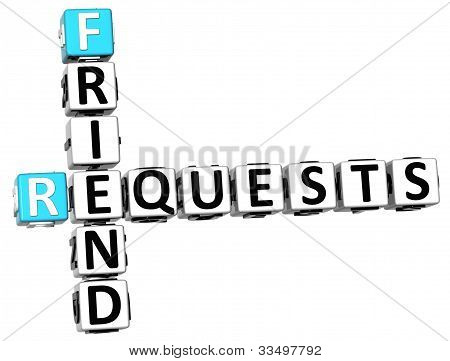 3D Requests Friend Crossword