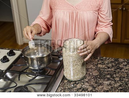 Cooking Oatmeal On Stove Top