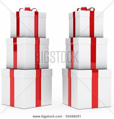 Pilha de presente de Natal
