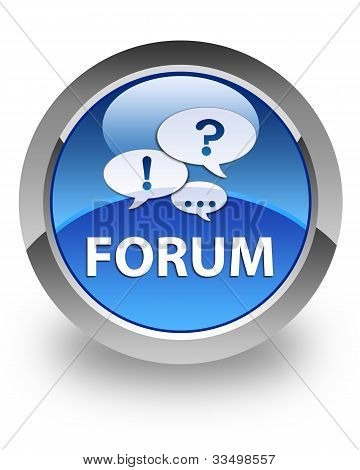 Forum glossy icon