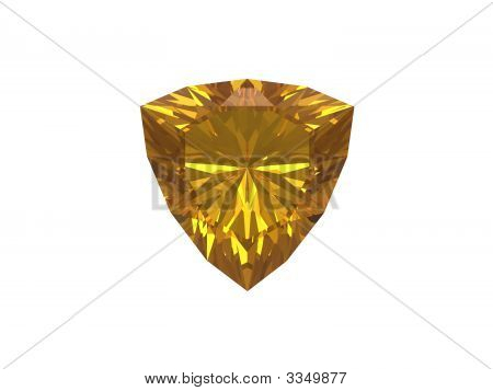 Citrine. Trillon Form.