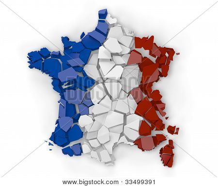 Broken Map Of France