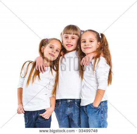 Three attractive girl