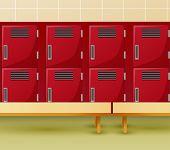 Locker Room Of Gym Or School Sport Changing Room poster