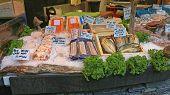 Seafood At Fish Market Stall Borough Market London poster