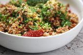 Buckwheat With Vegetables, Appetizing Vegetarian Dish. Buckwheat Dish. poster