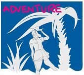 One Continuous Line Drawing Of Adventure. Simple Line Illustration About Adventure. poster