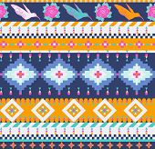 stock photo of aztec  - Aztecs Seamless Pattern for you design - JPG