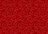 Seamless Pattern With Hearts. Valentine Background With Hearts Texture. Love Romantic Backdrop. Vect poster