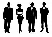 stock photo of person silhouette  - silhouette of a group of business people - JPG