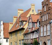 pic of gabled dormer window  - a historically house line in an old german city - JPG