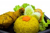 Yellow Spicy Rice With Chicken poster