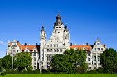 stock photo of leipzig  - beautiful landscape with new city hall in Leipzig Germany - JPG