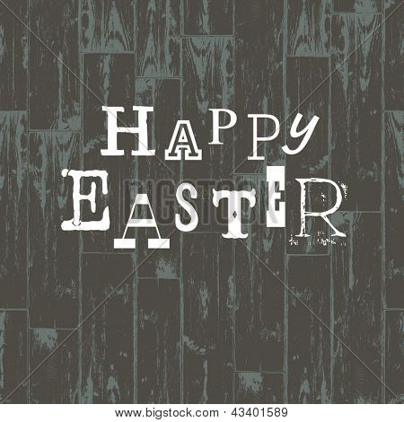 Happy Easter Card Template. Raster version, vector file available in portfolio.