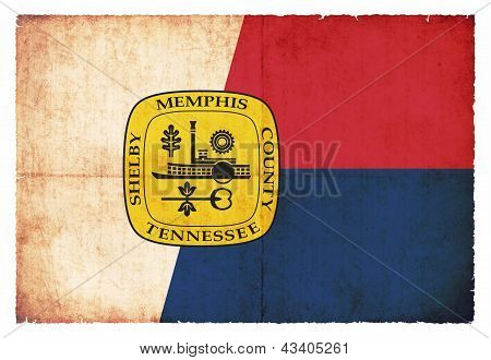 Grunge Flag Of Memphis/ Tennessee (usa)