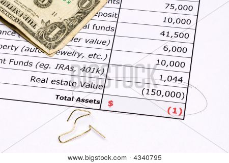 Devalued Real Estate Balance Sheet