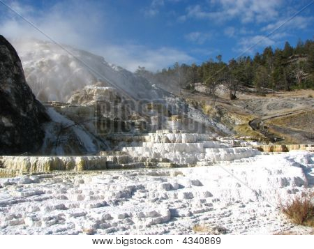 Yellowstone Park Photograph Of Hot Springs Geyser
