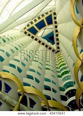 The World's Tallest Atrium In Burj Al Arab Hotel In Dubai