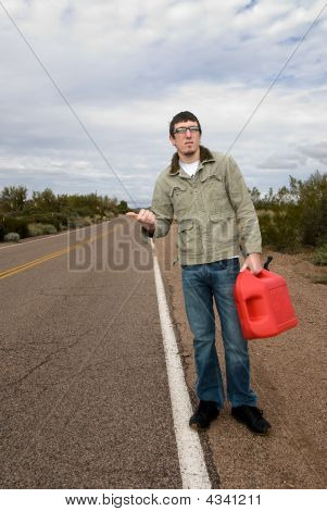 Stranded On Road Without Gasoline