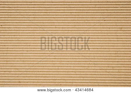 Cardboard Corrugated Pattern Background, Horizontal