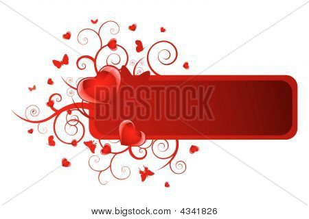 Heart Floral Banner