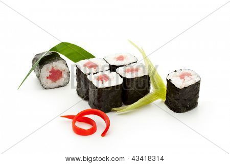 Maguro Maki Sushi - Roll with Fresh Tuna