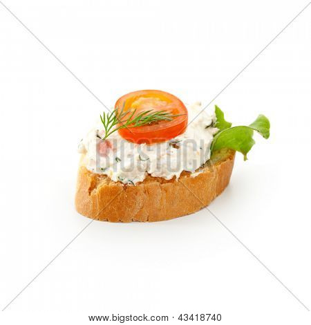 Fish Canapes - Cream of Smoked Fish with Cherry Tomato