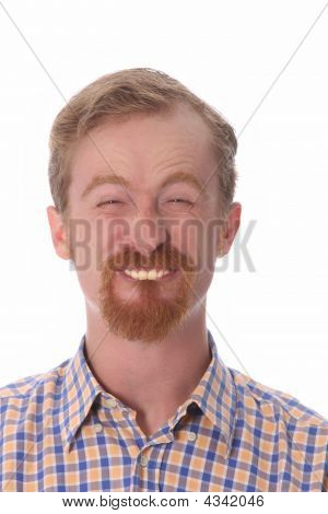Portrait Of Funny Man