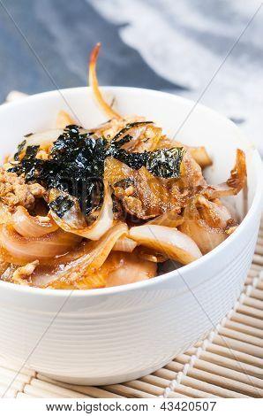homemade oyakudon