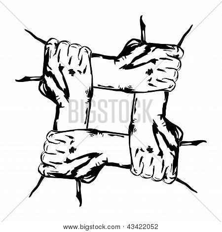 hands holding each other in unity