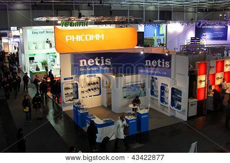 Hannover - March 9: Stand Of Phicomm And Netis On March 9, 2013 At Cebit Computer Expo