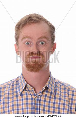 Portrait Of Amazed Man