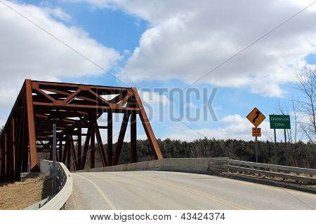 Old bridge crossing over Champlain canal